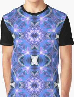Blue Flower Mandala - Abstract Fractal Artwork Graphic T-Shirt