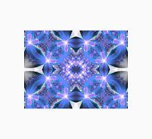 Blue Flower Mandala - Abstract Fractal Artwork Unisex T-Shirt