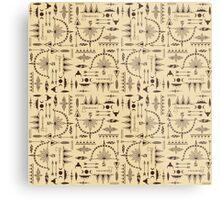 American Indians Pattern Metal Print