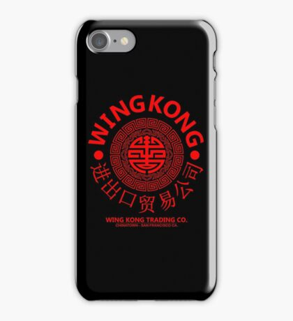 WING KONG - BIG TROUBLE IN LITTLE CHINA JACK BURTON (RED) iPhone Case/Skin
