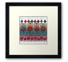 the rhyme of repetitive elements - fire, water, earth, air Framed Print