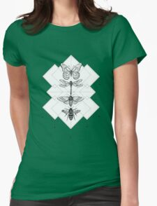 Flying Insects Womens Fitted T-Shirt