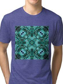 Dark Mandala - Abstract Fractal Artwork Tri-blend T-Shirt