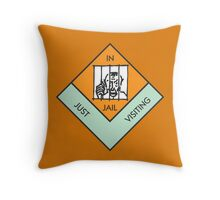 MONOPOLY BOARD GAME JAIL Throw Pillow