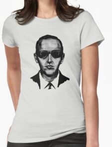 D.B. Cooper - Black and White  Womens Fitted T-Shirt