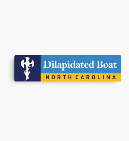 Dilapidated Boat - Royal Caribbean Parody Canvas Print