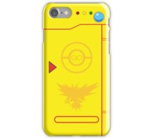 PokemonGO Team Instinct Themed Pokedex Case iPhone Case/Skin
