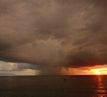 stormy sunset - puesta del sol tormentosa by Bernhard Matejka