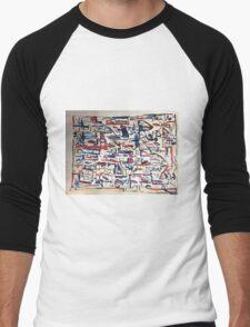 Ink scribble 4 Men's Baseball ¾ T-Shirt