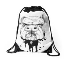 Schweinehund Drawstring Bag
