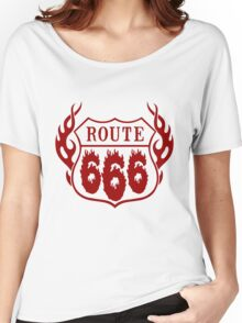 Route 666 design in red Women's Relaxed Fit T-Shirt