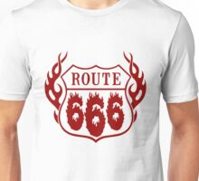Route 666 design in red Unisex T-Shirt