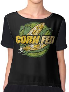Corn Fed T Shirt, vintage, retro Chiffon Top