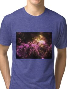 Cosmis Clouds - Abstract Fractal Artwork Tri-blend T-Shirt