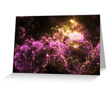 Cosmis Clouds - Abstract Fractal Artwork Greeting Card