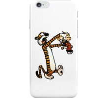 Zombie Fight Calvin And Hobbes iPhone Case/Skin