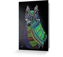 Dynamic Owl Greeting Card