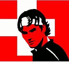 Roger Federer  - Transparent (Official Genius Banner Design) Photographic Print