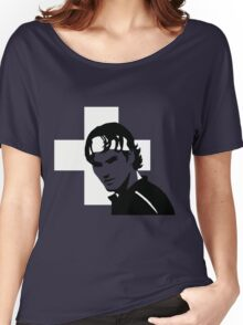 Roger Federer  - Transparent (Official Genius Banner Design) Women's Relaxed Fit T-Shirt