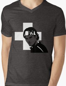 Roger Federer  - Transparent (Official Genius Banner Design) Mens V-Neck T-Shirt