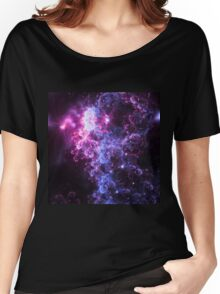 Midnight Clouds - Abstract Fractal Artwork Women's Relaxed Fit T-Shirt