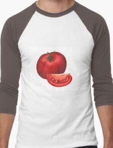A beautiful tomato drawing Men's Baseball ¾ T-Shirt