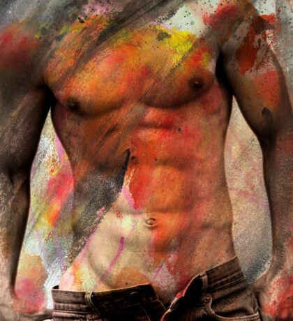 male nude art  Sticker