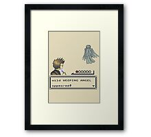 Weeping Angel Appeared! Framed Print