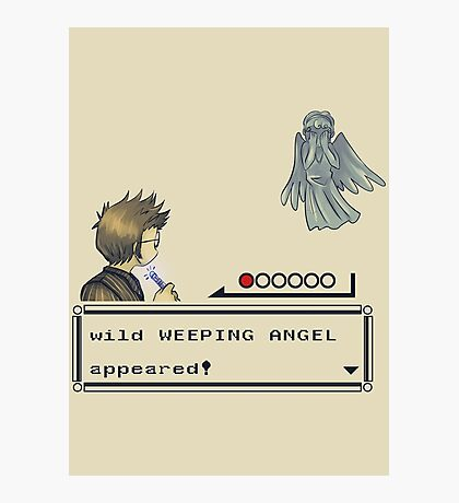 Weeping Angel Appeared! Photographic Print