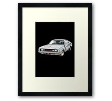 E49 Valiant Charger Design in Silver Framed Print