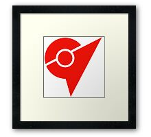 Pokemon Go Red Team Valor Framed Print
