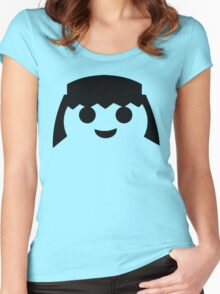 PLAYMOBIL HAPPY FACE Women's Fitted Scoop T-Shirt