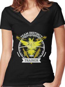 ♥ Team Instinct ♥ Women's Fitted V-Neck T-Shirt