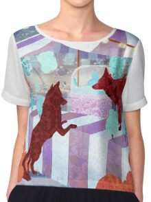 A Circus of Foxes Chiffon Top