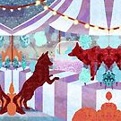 A Circus of Foxes by KatArtDesigns