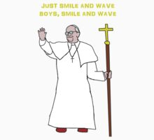 Pope smile and wave Kids Clothes
