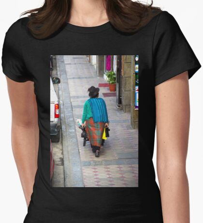 Indigenous Selling Their Produce Womens Fitted T-Shirt