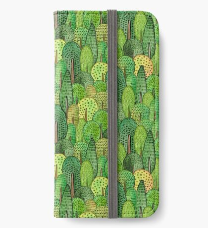 Watercolor forest iPhone Wallet/Case/Skin