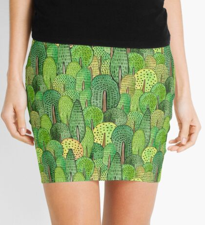 Watercolor forest Mini Skirt