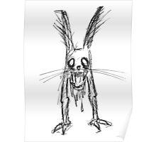 Creepy Bunny Poster