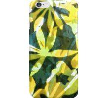 Lemon and Green Flower Pattern iPhone Case/Skin