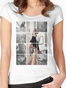 Red Photoshoot Women's Fitted Scoop T-Shirt