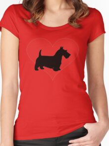 Scottish Terrier Women's Fitted Scoop T-Shirt