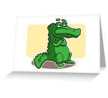 An alligator drawing Greeting Card