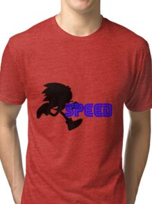Speed Type: Sonic Tri-blend T-Shirt