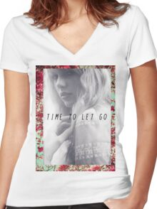 Time To Let Go  Women's Fitted V-Neck T-Shirt