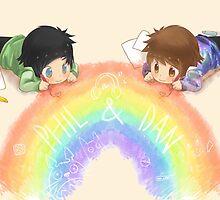 Drawing a rainbow by goddessofllamas