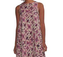 Floral Grunge Pattern  A-Line Dress