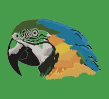 A beautiful blue, yellow and green parrot Kids Tee