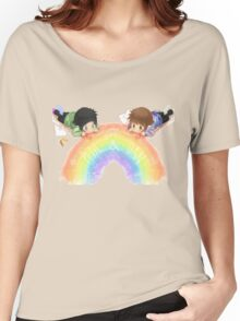 Drawing a rainbow Women's Relaxed Fit T-Shirt
